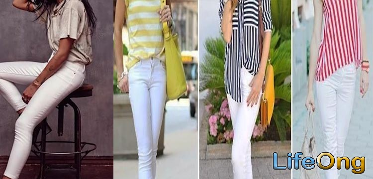 white jeans trendy outfits